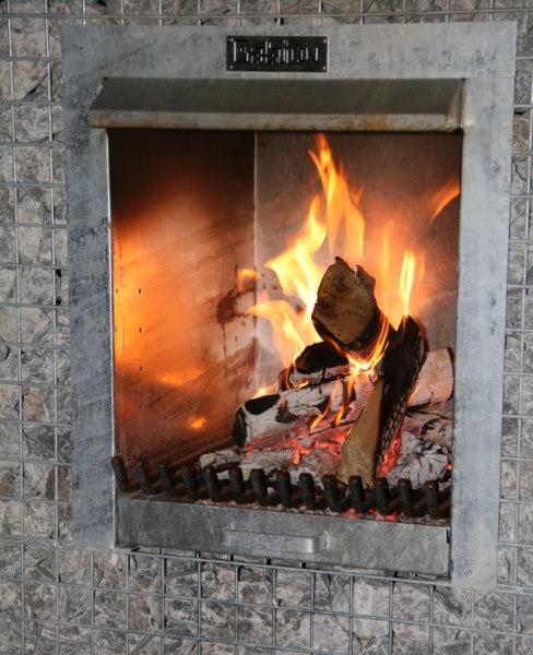 Gabion tuinhaard vuur
